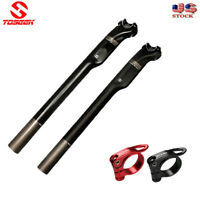 MTB MTN Road Bike Carbon Fiber Seatpost 27.2/30.8/31.6mm versus Seatpost Clamp