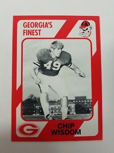 Chip Wisdom Georgia Bulldogs UGA Dawgs 89 Collegiate Collection Dallas TX NM