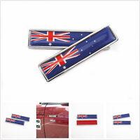 2 Pcs Metal 3D Australian Flag Badges Car Body Fender 3M Sticker Decal For Honda