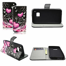 Romantic Leather Card Slot Pocket Silicone Cover Case Stand For HTC ONE M9
