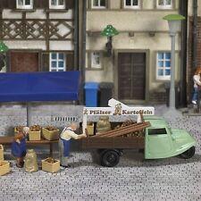 Busch 7707 scala H0 Mini-Welt: bancarella del mercato patate # NUOVO SCATOLA