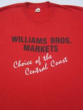 vintage 80's WILLIAMS BROS MARKETS vtg MEDIUM T-SHIRT screen stars