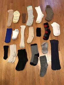 Lot Of 20 Pairs Socks Women HUE Betsey Johnson Alfani Under Armour PINK Vintage