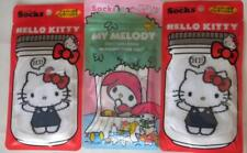 New With Tags 3 Pair HELLO KITTY & MY MELODY SOCKS Imported from JAPAN