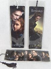 Twilight ORIGINAL SET OF 3 BOOKMARKS Borders Edward Bella Cullens NEW!