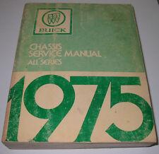 Service Manual Buick All A B C E H X Series Werkstatthandbuch alle Modelle 1975!