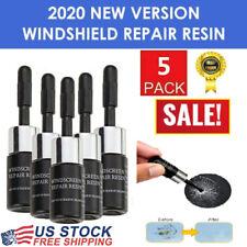 5PCS Automotive Glass Nano Repair Fluid Glass Crack Chip Windscreen Repair Kit