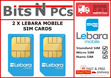 2 x Lebara Mobile Pay As You Go SIM Card - Free Lebara to Lebara Calls & Texts