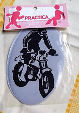 VINTAGE RENFORT PROTEGE COUDE GENOUX THERMOCOLLANT ADHESIF MOTARD MOTO CROSS A1