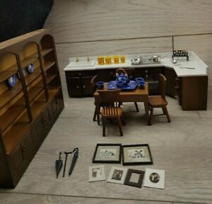 The Dolls House Emporium Kitchen Set with Dresser extra accessories 12th Scale