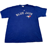 VINTAGE Majestic Mens T Shirt XL Blue Jays Graphic Sports Tee *