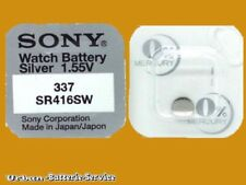 100 x Sony Knopfzellen 337 SR416SW V337 Silberoxid Japan 1.55 V Uhrenbatterien