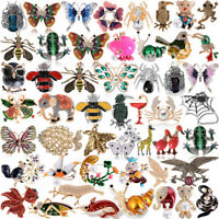 Wedding Bridal Crystal Pearl Breastpin Animal Butterfly Dragonfly Bee Brooch Pin