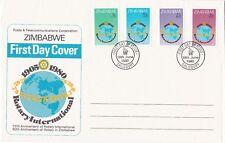 Zimbabwe: 1980, 75th Anniversary of Rotary International, FDC, stamps