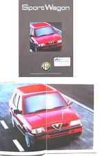 ALFA ROMEO 33 Sportwagon 1991-1992 ORIGINALE UK brochure di vendita No. gb-9102-922