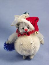 """DEB CANHAM """"SNOWBALL MOUSE"""" MINIATURE MOHAIR MOUSE IN DRESSED AS A SNOWBALL"""