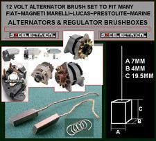 ESCOBILLAS ALTERNADOR de 12 voltios para adaptarse a muchos Lucas Fiat Marelli Prestolite Marine, etc.