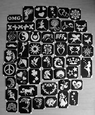bm2017-setA GIRLS 50 different stencils + 6 free glitters glitter tattoo L@@K