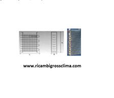 EVAPORATORE STATICO PER CELLE FRIGO PER CARNE 700X780X128 - SINO A 4 MC -