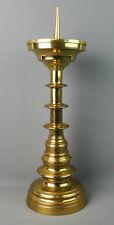 Großer Scheibenleuchter, 19. Jahrhundert, Messing, Neogotik, 45,5 cm