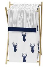 Kids Baby Childrens Clothes Laundry Hamper Jojo Woodland Navy Deer Boy Bedding