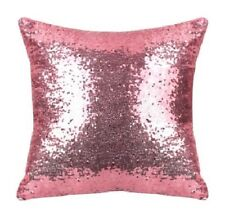 Pink Sequin Pillow Cover Decorative Cushion Home Decor Girl Room Baby Nursery