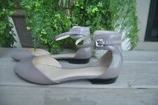 Nine West  Dark Taupe Leather Ankle Strap   Size 7 M