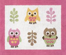 Girls Baby Kids Room Floor Rug for Sweet Jojo Pink Modern Happy Owl Bedding Sets
