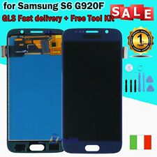 PER SAMSUNG GALAXY S6 G920 SM-G920F DISPLAY LCD TOUCH SCHERMO VETRO SCREEN BLU