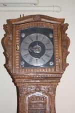 Uhr, Standuhr, alte Renaissance Barock Uhr, Eiche um 1680 süddeutsch #2454