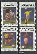 XG-AK583 DOMINICA IND - Football, 1986 Mexico World Cup MNH Set