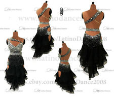 LATIN / SALSA / CRYSTAL COMPETITION DRESS WITH HIGH QUALITY RHINESTONE M584