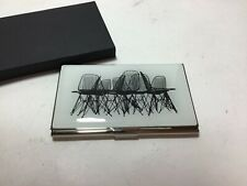 Vintage Acme Studio Charles And Ray Eames Wire Chairs Business Card Case New
