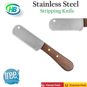 STRIPPING KNIFE HAIR GROOMING PET CAT DOG COMB,Japanese Stainless Steel, (Left)