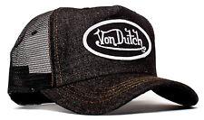 VON van DUTCH MESH TRUCKER BASE CAP [DENIM BLACK] JEANS KAPPE MÜTZE BASEBALL BAS