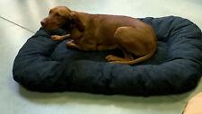 XXL Hundebett Hundekissen 120 cm x 75 cm x 14 cm  Schwarz Baumwolle Stoff