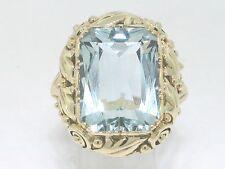 Aquamarin Ring 585 Gelbgold 14Kt Gold facettierter natürlicher Aquamarin
