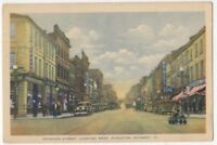 Princess Street Looking West Kingston Ontario Canada Vintage Postcard US114