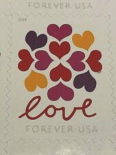 10 MINT US USPS FOREVER stamps.  Love Heart Blossom.