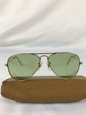 1950s B&L Ray Ban 1/10 12K Gf Usa Aviator SunGlasses Bausch Lomb