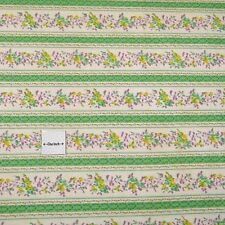 "Russian Made Vintage Canvas Fabric, 28"" W (With Selvages) Cotton Floral 1 Yd"