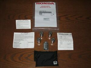 GENUINE OEM HONDA --USED--  08W42-SNA-101 WHEEL LOCK SET-- SEE VEHICLE LIST