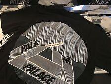PALACE SKATEBOARDS FW16 TRI CURTAIN MEDIUM BLACK T-SHIRT TEE M TRI FERG GREY