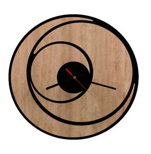 Wall Clock Modern Australian Made Wooden Circular Art Round Design