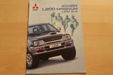 73206) Mitsubishi L200 Magnum GLX Prospekt 09/2000