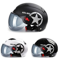 Unisex Motorcycle Half Helmet w/Sun Visor Scooter Motorbike Safety Helmet Summer