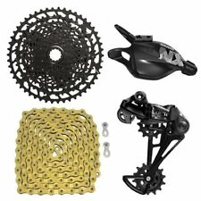 Fast Shipping SRAM NX Eagle 12 Speed Groupset, Trigger Shifter w/ YBN Chain Gold