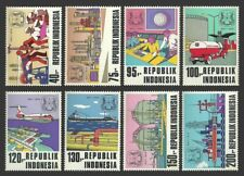 INDONESIA 1974 PETROMINA OIL COMPLEX MINERALS AIRCRAFT SHIPS TANKERS SET MNH
