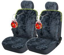 2 Stk Reißverschluss Lammfell Autositzfelle+Kopfstütze anthrazit, ZIPP IT System