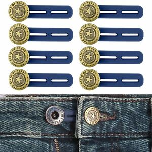 Bequeme Hosenbunderweiterung, 8 Pack, verlängert - 5 cm, Jeans Bund Verlängerung